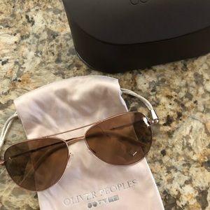 Rose gold Oliver Peoples sunglasses